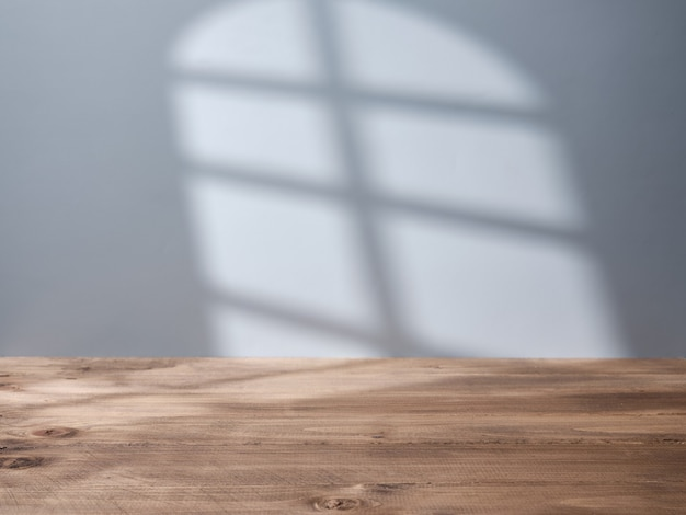 Empty background for product presentation with light from the window