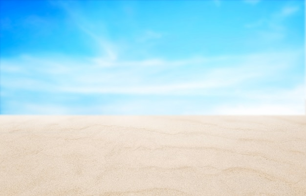 Empty beach and sky background in summer