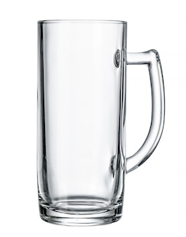 Empty beer glass. isolated on white
