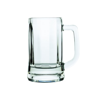 Empty beer glass isolated on white