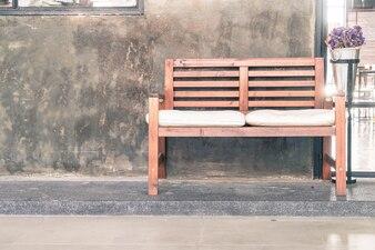 Empty bench decoration
