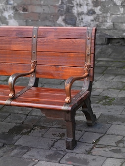 Пустая скамейка во дворце в запретном городе, пекин, китай