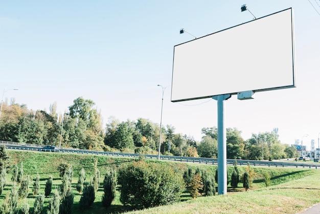 Empty billboard in countryside
