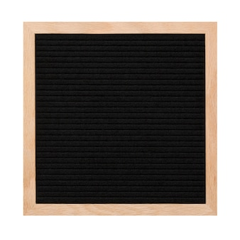 Empty black letterboard isolated on white.