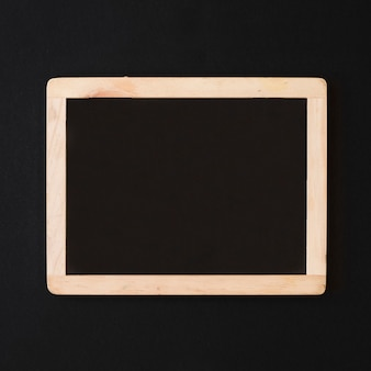 Empty blackboard on table