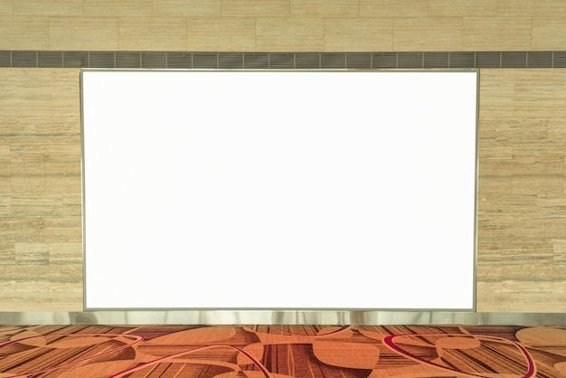 Empty blank advertising billboard on wall for your text message