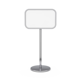 Empty blank outdoor or indoor advertising stand sidewalk board on a white background. 3d rendering