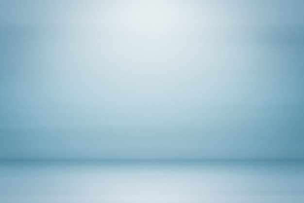 Empty blue vintage color studio backdrop abstract gradient grey background