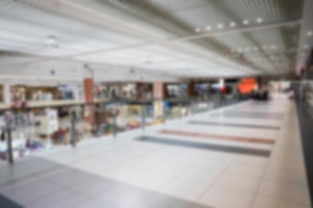 Empty blurred shopping mall