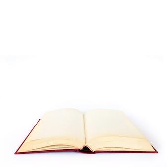 Empty book on white