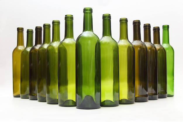 白ワインの空のボトル