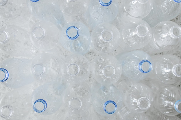 Empty bottles for recycle, campaign to reduce the use of plastic and save world.