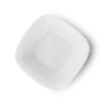 흰색 배경에 고립 된 빈 그릇
