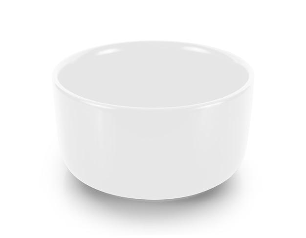 白で隔離空のボウル