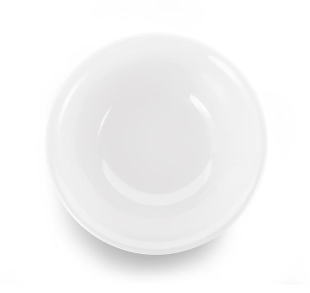 흰색 표면에 빈 그릇