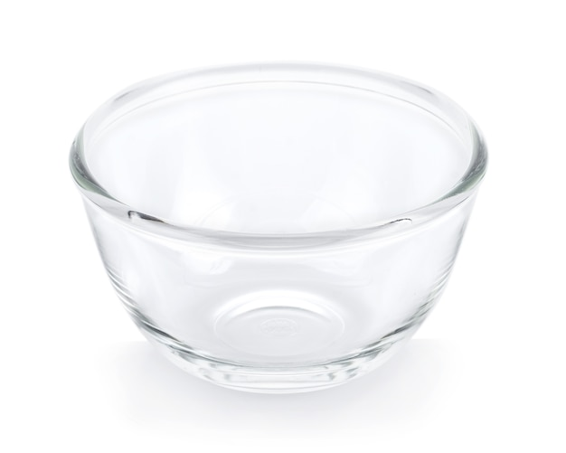 Empty bowl on white surface