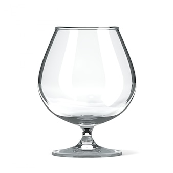 空のブランデーコニャックグラス