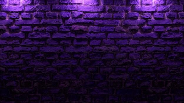 Пустая кирпичная стена с неоновым светом