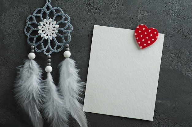 Empty card and christmas decorations