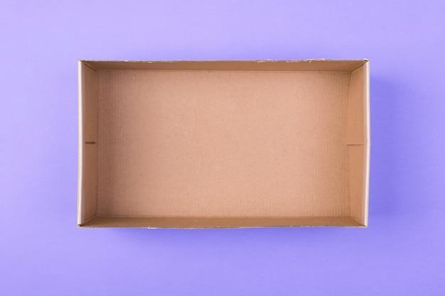 Empty cardboard paper box