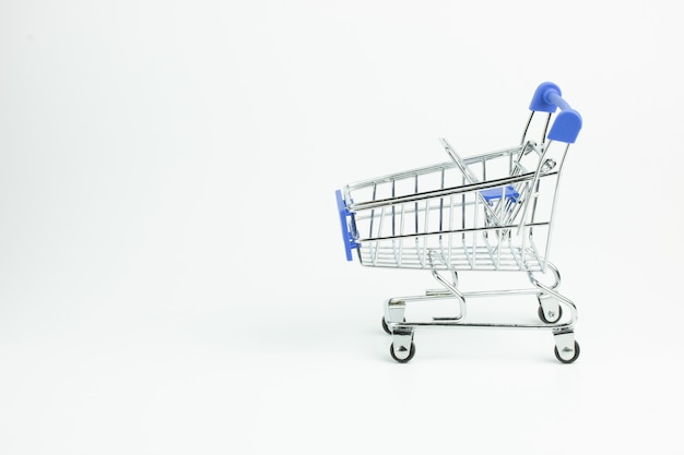 Empty cart isolated on white background
