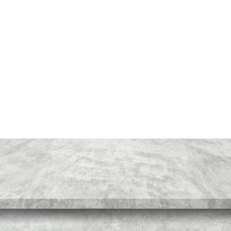 Empty cement table on isolated