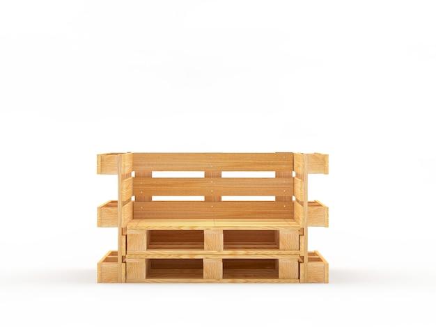 木製パレットで作られた空の椅子