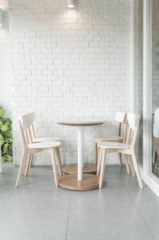 Empty chair in restaurant