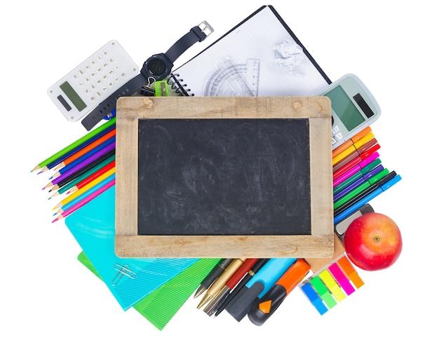 Empty chalkboard hero header