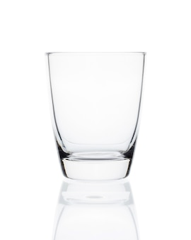 Empty clean drinking glass cup isolated on white space. with clipping path.