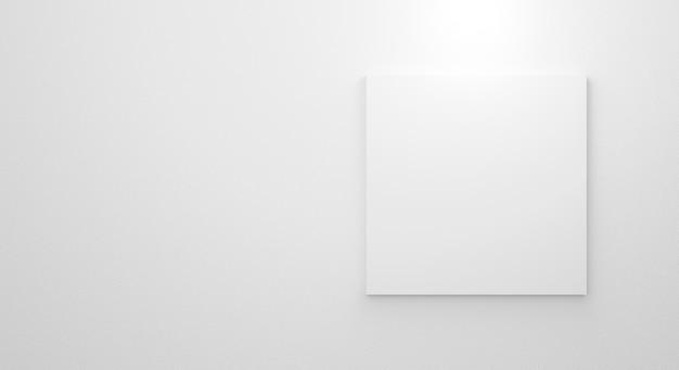 モックアップ3dレンダリングデザインの白い背景の上の空のきれいな画像