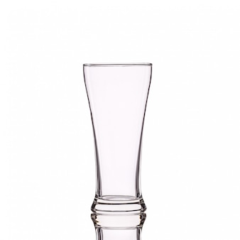 Empty clear drinking glass.