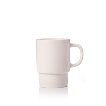 Empty coffee cup or cup for hot drink.