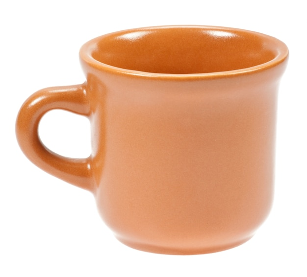 Пустая чашка кофе, изолированные на белом фоне