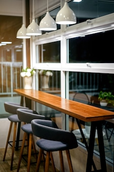 Empty coffee shop cafe bar interior