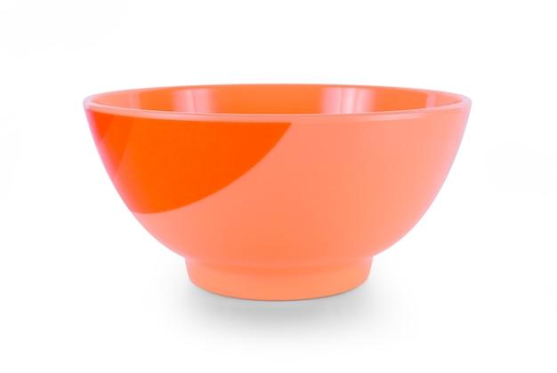 흰색 바탕에 빈 색 그릇