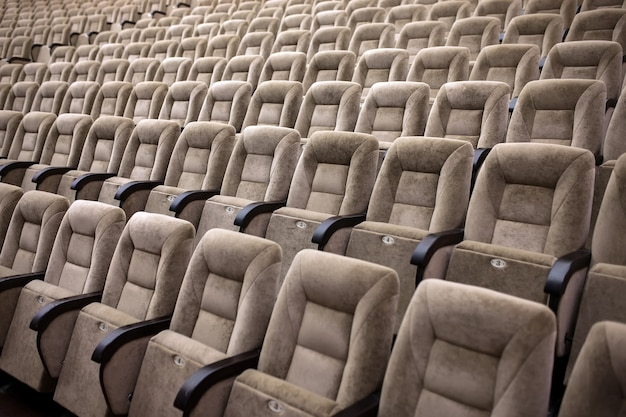 Empty comfortable seats in theater