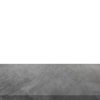 Empty concrete table on isolated white and background.