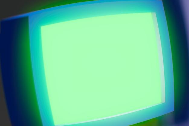 Empty curved computer screen 3d render design element