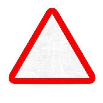 Empty danger road sign