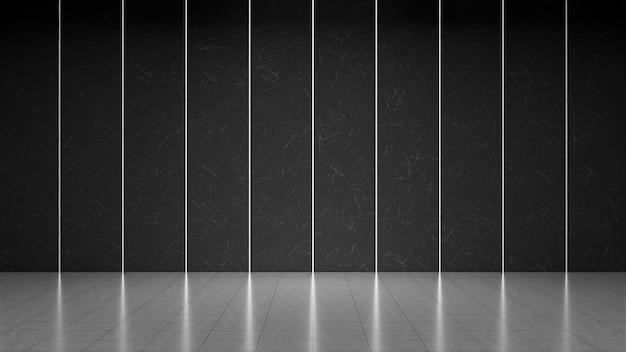 Пустая темно-серая бетонная комната
