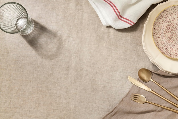 Empty dinner table background