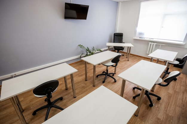 Empty doctor training class