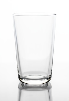 Empty drinking glass macro shot
