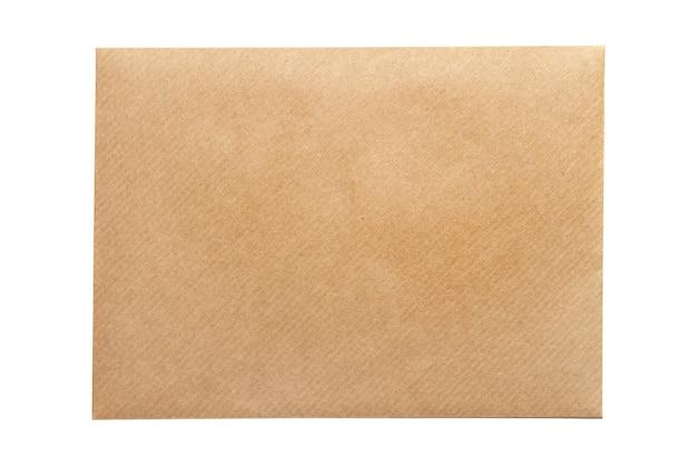 白い背景で隔離の空の封筒空白