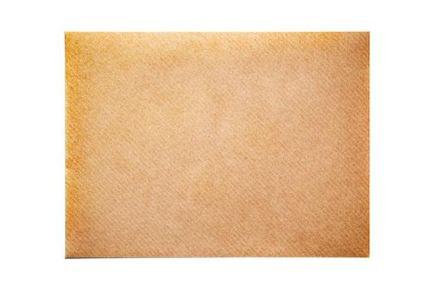 빈 봉투 빈 흰색 배경에 고립