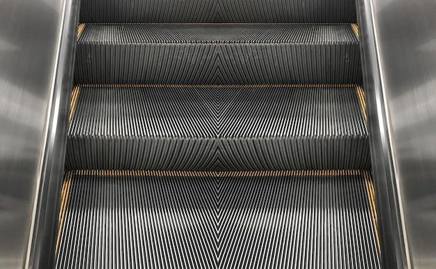 Empty escalator stair machine indoor