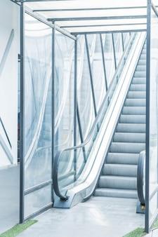 Empty escalator way