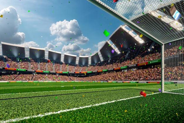 空のサッカー場