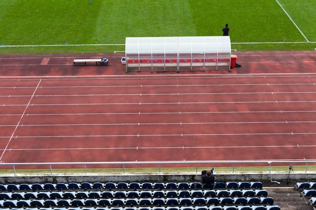 Empty football stadium during lockdown due to coronavirus
